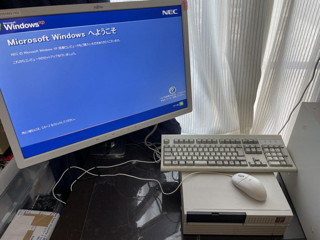 Windows XP 再セットアップ初期画面